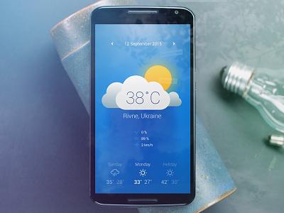 Weather App cloud android blue app sun weather