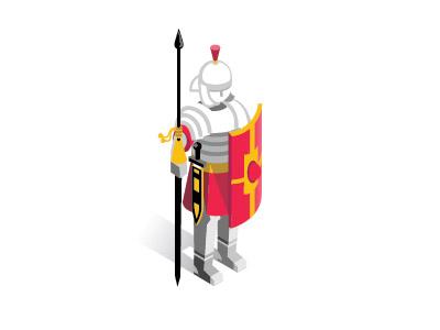 Legionaire roman legion pictogram infographic