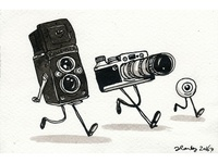 Two cameras and an eyeball