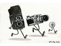 Two cameras and an eyeball