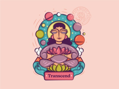 Meditate. Transcend. Dissolve. god thiruvalluvar artpreneur program transformative illustrator visual storyteller lotus flower coimbatore sprituality universe folk art tamil bengal patua indian folk art thirukural indian illustrator indian scd balaji