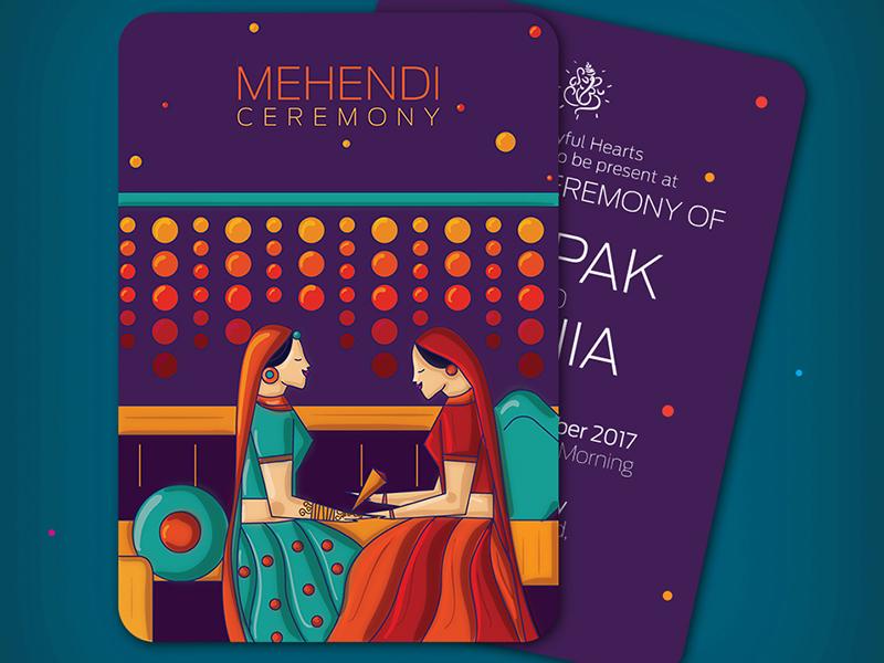Mehendi / Mehndi Invitation by SCD Balaji on Dribbble