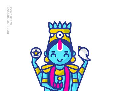 Guruvayurappan - Baby Vishnu desi god icons vishnu mythology indian illustrator iconography icon hindu gods krishna