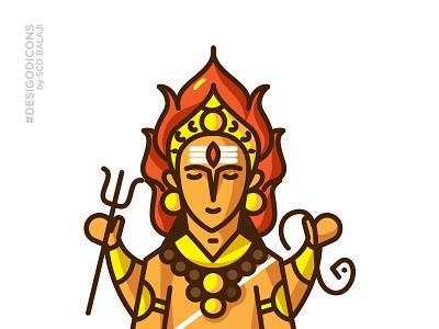 Kala Bhairava - Lord of Time desi god icons indian icons adobe illustrator iconography icons gods bhairava indian illustrator mythology hindu lord shiva