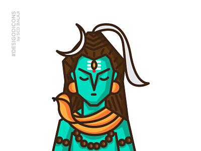 Shiva - The First Guru desi god icons indian icons adobe illustrator iconography icons gods bhairava indian illustrator mythology hindu lord shiva