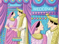 Indian Wedding Invitation Illustration