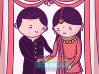 Cute Couple Engagement Invitation