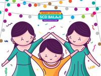 Ladies Sangeet Invitation Illustration