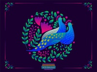 Peacock Love | Wedding Invite Illustration