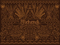 Mehendi Wedding Invitation Design