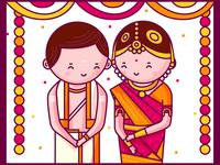 Tamil Iyer - Bride and Groom