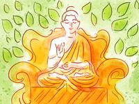 Buddha in Digital Watercolor