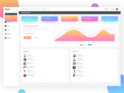 Dashboard Web App app web design ui 2d color dashboard
