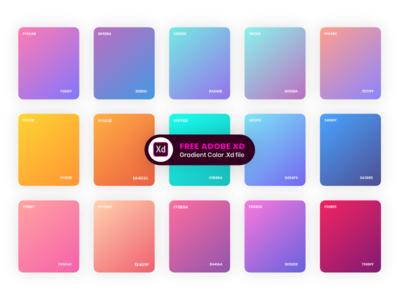 Gradients Color Style xd adobe iphone ipad ios gradients gradient colors app android