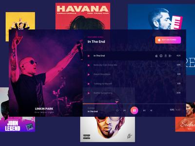 Urbania Music Festival website artist festival player music color 2d design ui