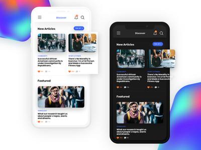 Artico App writer ux ios sharing article app mobile 2d ui