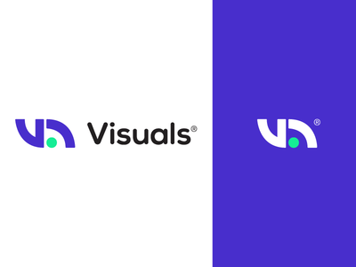 Visuals Logo Design type simple paper digital logotype logo letters identity font flat branding