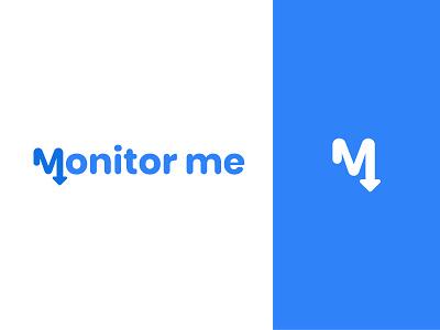 Monitor Me Logo 2d design applogo monitoring brand and identity graphic  design logoconcept logo design