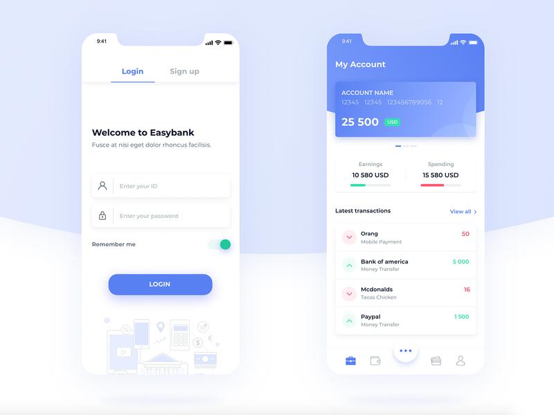 Bank App #1 app bank bank app dashboard login transaction ui design design ux