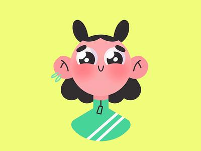 Girl eyes animation procreate girl woman person web design flat illustration