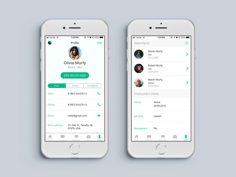 Payroll system profile app ios payroll
