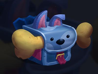 Backpack packpack bone dog game procreate illustration art