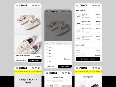 Titolo e-commerce ux ui web design magento streetwear sneakers shop ecommerce e-commerce