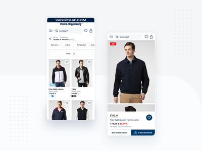 Van Graaf - redesign proposition product page ecommerce e-commerce shop ux ui