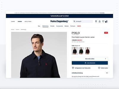 Van Graaf - redesign proposition product page shop ui ux design e-commerce ecommerce checkout