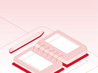 Notebook, isometric