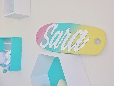 This room belong to: baby decoración typography state illustration skateart