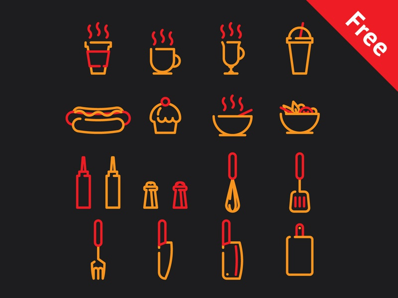 Free icons for cafe and streetfood restaurant streetfood cafe free icons