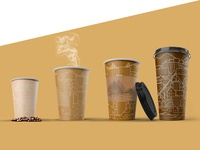 Disposable cups «Сity»