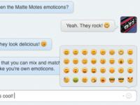 Matte Motes Display