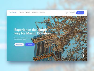 Baraqah - Responsive Website for Masjid Donation System. webdesign religious islamic website dhaka islamic app