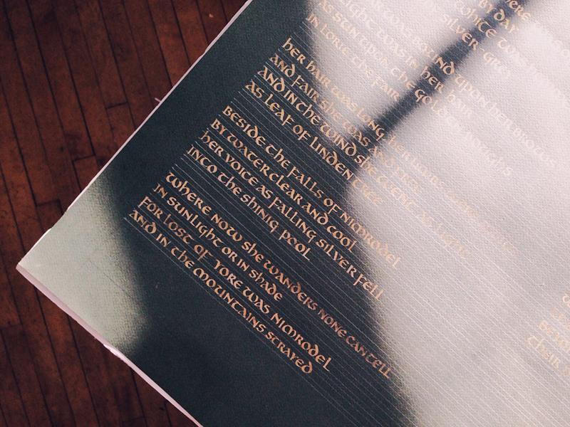 Uncial calligraphy uncial tolkien