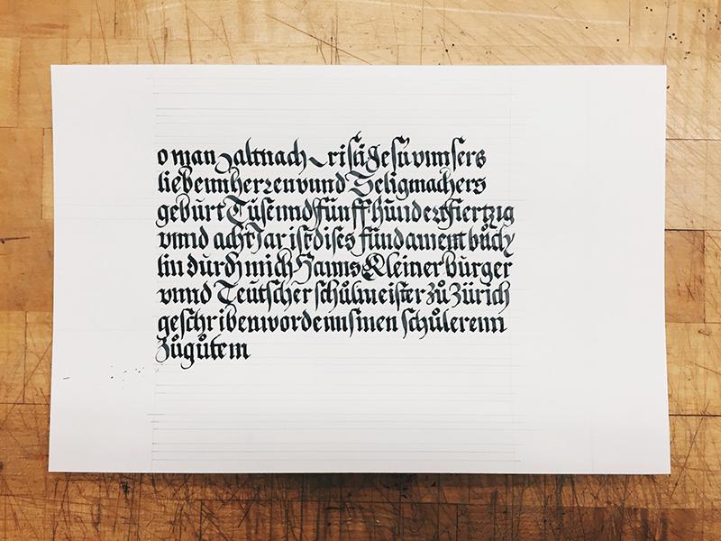 half-bâtard calligraphy batard blackletter