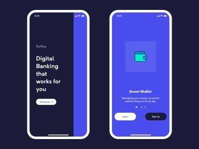 Mobile Bank Onboarding (Free Source) dribbble finance financial payment money business n26 banking app banking bank app mobile clarity design ui