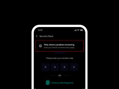 Toast Messages bank app dark error message error flash design message mobile ux ui inapp in-app notification notifications alert toast