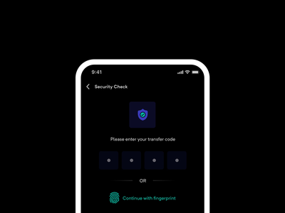 Toast message animation with sound🔊 ux sound ui sound touch id security fintech fingerprint financial finance fin-tech authentication sounds toast success in-app bank mobile dark alert interaction design sound