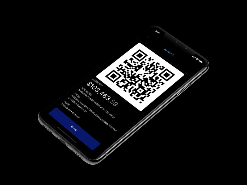 Crypto App Receipt payment cryptocurrency crypto ios app cards mobile dark ux dribbble clarity design ui