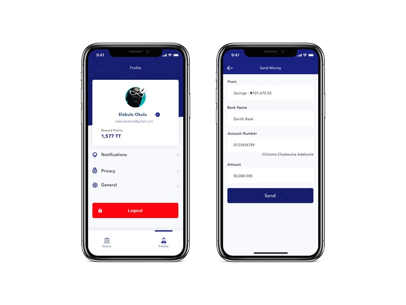 Online Bank App (Free Source) payment form payment method ios user account banking app banking bank payment mobile ux dribbble iphonex design ui