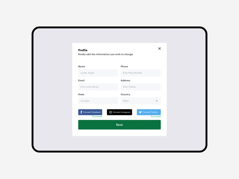 Web Form xd sketch dribbble form fields form field web design social form design circular card web forms