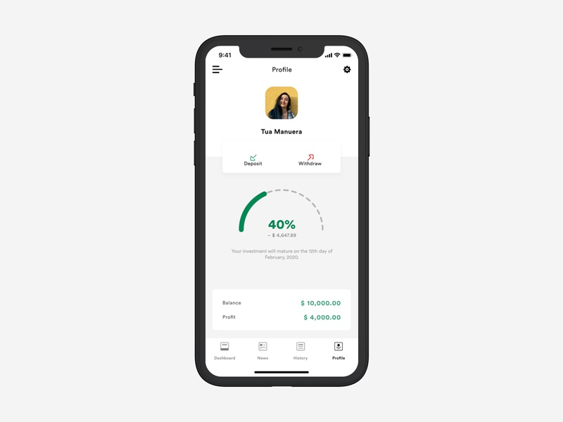 Investment Dashboard (Mobile) circular investment invest bank finance money minimal ux user cards ios app mobile clarity dribbble design ui