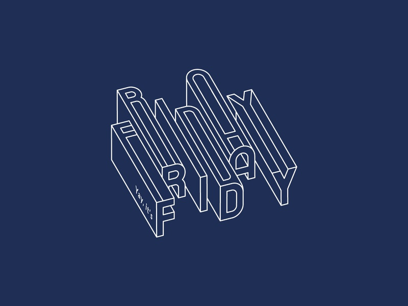 Fridaaaays are the best! graphicdesign alphabet typography vector font typographic design visual communication title design 3d lettering letter design typeface line art 3d typography vector alphabet