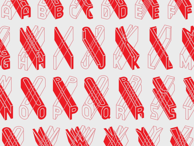 3D Vector Alphabet vector font vector alphabet typeface letter design alphabet typography 3d typography 3d lettering 3d lettermark letter logo lettering alphabet logo a-z