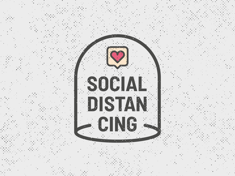 Social Distancing Love staysafe geometrical flat desgin poster design icon design stayhome socialdistancing coronavirus quarantine solidarity logodesign vectorillustration illustration graphicdesign