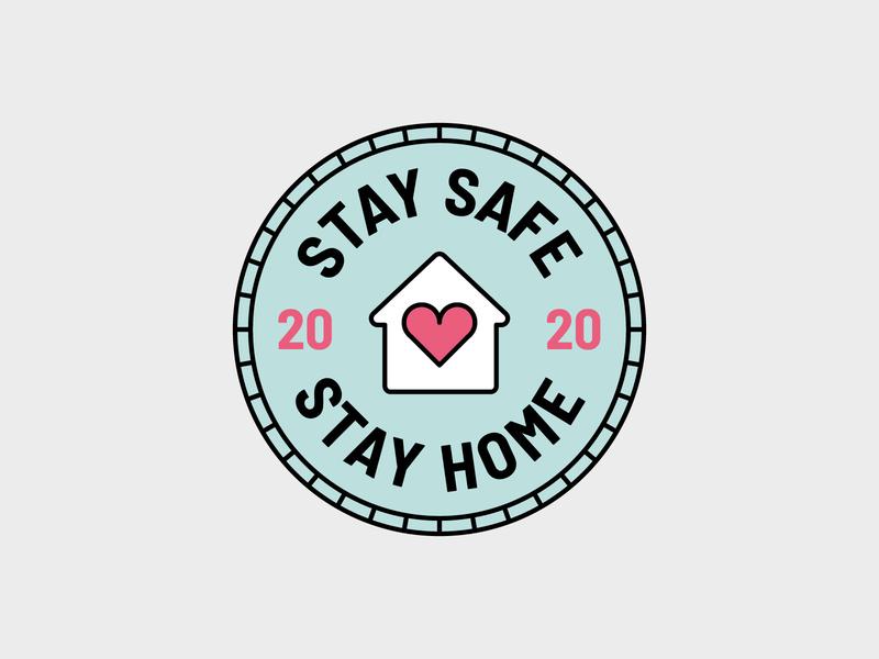 Stay Home Stay Safe Badge logodesign vector illustration badge design corona virus stay safe stay home branding label brand design icon design illustration graphic design badge