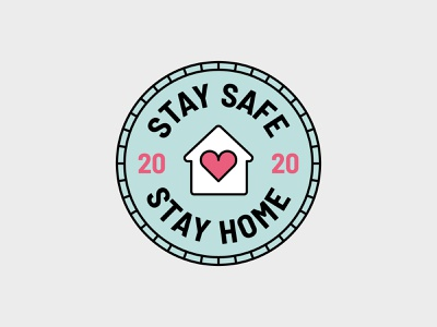 Stay Home Stay Safe Badge logodesign vector illustration badge design corona virus stay safe stay home branding label brand design icon design illustration graphic design badge