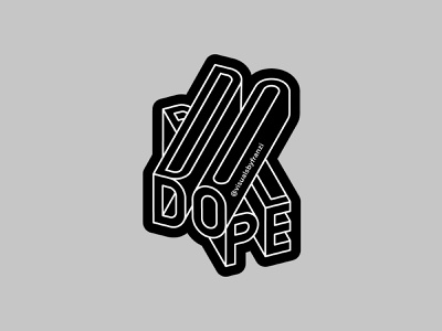 DOPE vector typography dope typography branding graphicdesign sticker design line art logo design typographic design letterdesign lettering